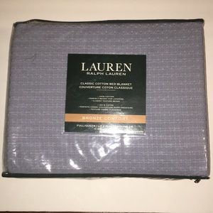 NEW Ralph Lauren Grey Queen Size Blanket